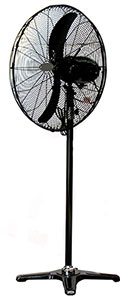 pedestal mounted oscillating sweep fan